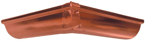Copper Strip Miters For Half Round Gutter