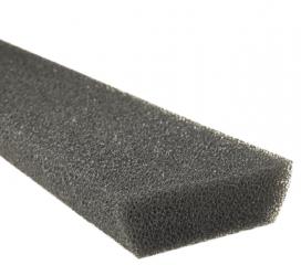 Leaf Defier Foam Gutter Protection for Half Round Gutter, 4 ft section