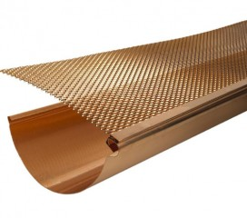 Copper Gutter Screen, 3' Lengths