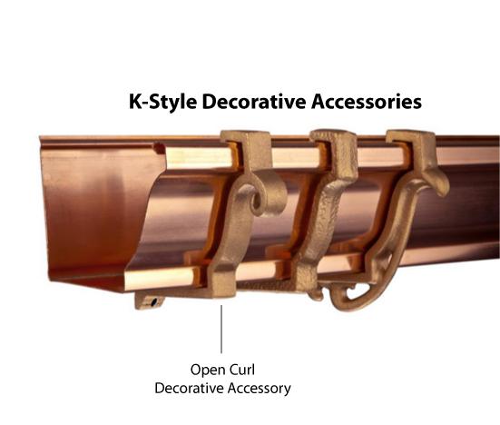 5 Open Curl K Style Decorative Accessory