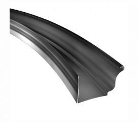 K-Style Radius Gutter, .050 Aluminum