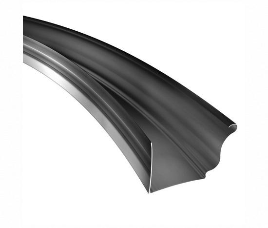 K Style Radius Gutter 050 Aluminum