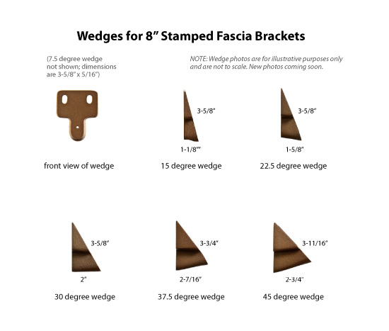 Wedges For 8 Stamped Fascia Brackets