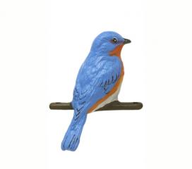 Blue Bird, Hand Painted Aluminum