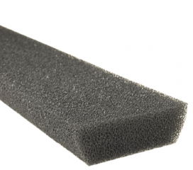 Leaf Defier Foam Gutter Protection for 6 inch Half Round Gutter, 4 ft section