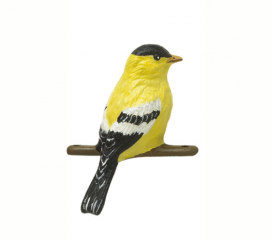 Gold Finch, Hand Painted Aluminum