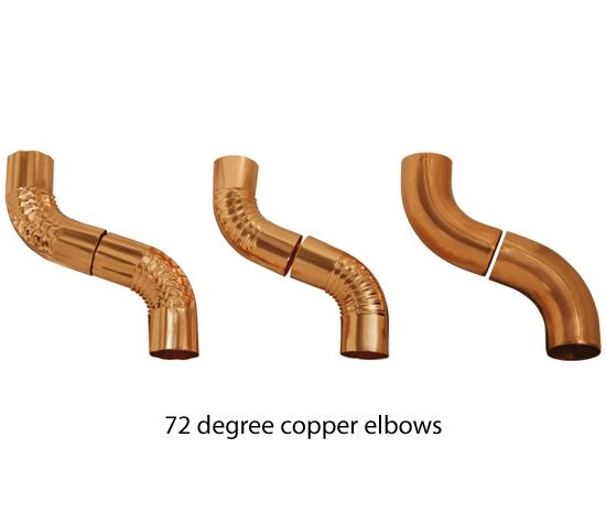 3 X 16 Oz Copper Smooth Round Amp Corrugated Elbows