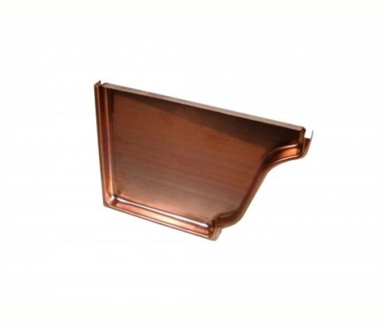 5 Amp 6 Copper Flat End Caps For K Style Gutter Classic